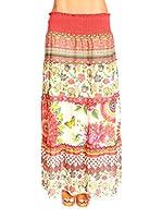 Spring Styles Falda Sonia (Coral / Blanco)