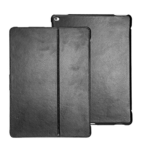 futlex-genuine-leather-tab-closure-case-for-ipad-pro-129-black-unique-design-multiple-stand-position