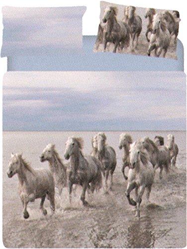 Copripiumino WILD HORSE piazza mezzo CAleffi collezione CARMASSI MARCO (1 sacco 200x250 + 1 federa cm.50x80 + 1 sotto lenzuolo con angolo cm.130x20