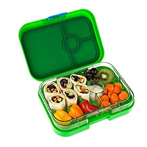 yumbox panino pomme green leakproof bento lunch box container for kids and adults. Black Bedroom Furniture Sets. Home Design Ideas