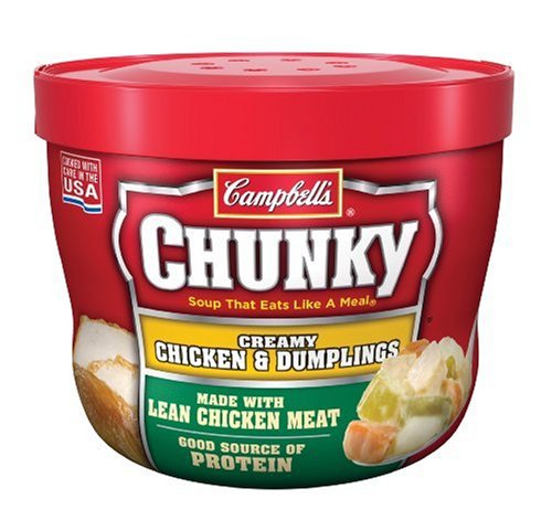 Campbell's Chunky Chicken & Dumpling, 15.25-Ounce Microwavable Containers (Pack of 8)