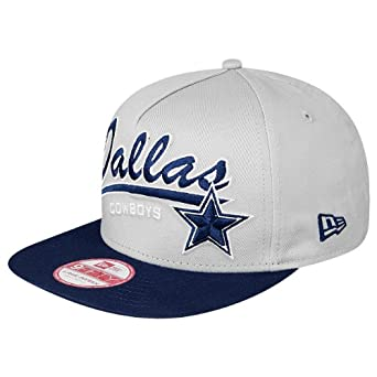 Dallas Cowboys Script Logo AFrame Snapback Cap Hat by New Era