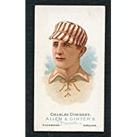 1887 N28 Allen & Ginter Charles Comiskey Front EX-MT Back Damage 254398 Kit Young Cards