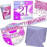 21st Birthday Pink Shimmer Party pack