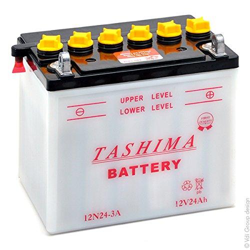 Tashima motorrad batterie 12n24 3a 12v 24ah akku s