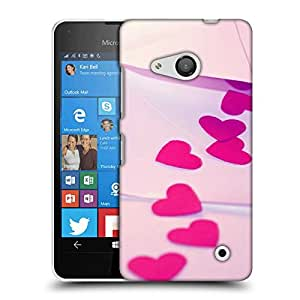 Snoogg Pink heart Designer Protective Back Case Cover For Nokia Lumia 550