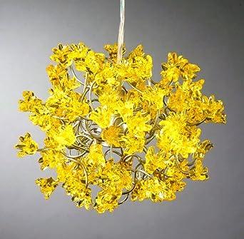 pendant lights yellow flowers lamp shade handmade. Black Bedroom Furniture Sets. Home Design Ideas