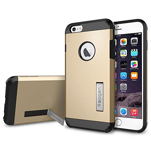 iPhone 6 Plus ケース, Spigen® [エアクッションテクノロジー] タフ・アーマー Apple iPhone (5.5) アイフォン 6 プラス カバー (国内正規品) (シャンパン・ゴールド SGP10916)
