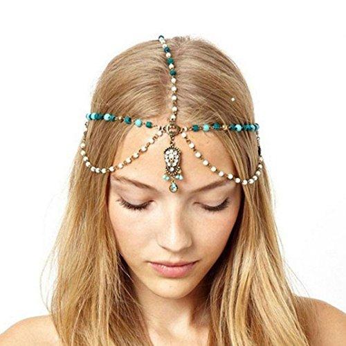 Baishitop Metal Rhinestone Head Chain, Bohemia Unique Hairbands (Arabian Head Bands compare prices)