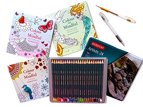 new-gift-set-3-colour-me-mindful-adult-colouring-books-please-note-size-plus-derwent-artists-tin-of-