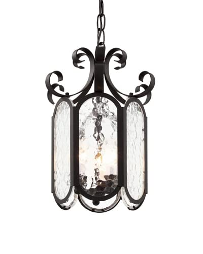 Trans Globe Lighting Iced Glass 10 Foyer Pendant, Black As You See