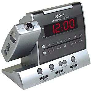 gpx cr2104pd digital am fm clock radio with projection display electronics. Black Bedroom Furniture Sets. Home Design Ideas