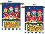 Joy Cats House Flag 2 Sided Christmas Vertical Banner 28x40 Large