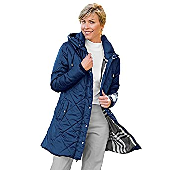 Blair Women's Plus Size Rushmore Quilted Parka at Amazon