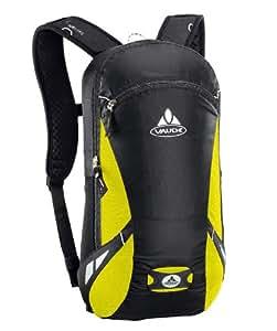 VAUDE Rucksack Trail Light 9, black/lemon, 39x22x12, 9 liters, 10095