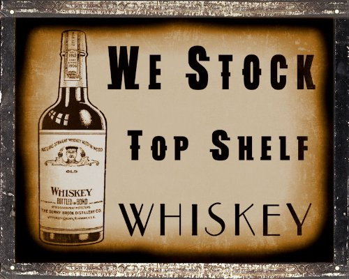 Mancave Whiskey Liquor Sign