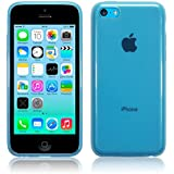 iPhone 5C Gloss TPU Gel Case Jelly Skin Cover The Keep Talking Shop® (Blue Translucent)