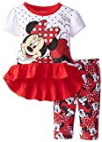 Disney Baby Girls' Minnie Mouse Legging Set  Red