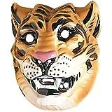 Tiger Maske Tigermaske braun Tier Maske Wildkatze Tiermaske Kostüm Zubehör Fasching Karneval