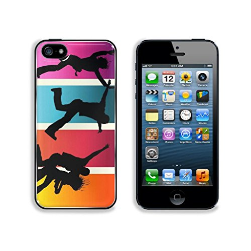 Bestcover Apple Iphone 5 / 5S Snap Cover Premium Aluminum Design Back Plate Case Customized Made To Order Support Ready Invincible Youth Four Person Jump Dancing On The Grass Case Cover