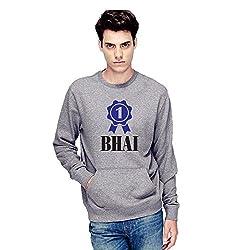 TYYC Ek Number ka Bhai Printed Round Neck Mens Sweatshirt Grey_XL