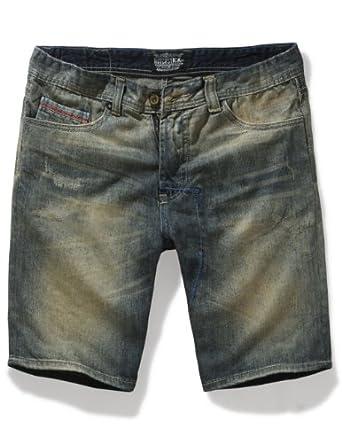 Match Mens Retro Cargo Denim Shorts(Without belts)(Label size 29 (US 28),MS3003_Blue)