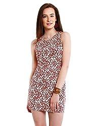 NUN Women's Body Con Dress (NUNDR6095_White_Small)
