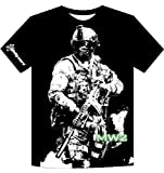Call of Duty Modern Warfare 2 T-Shirt  Soldier, Black, XL [import allemand]