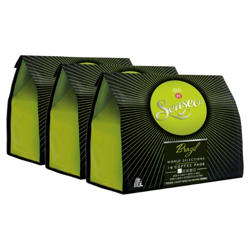 Choose Senseo Brazil, Design, Pack of 3, 3 x 16 Coffee Pods from Douwe Egberts