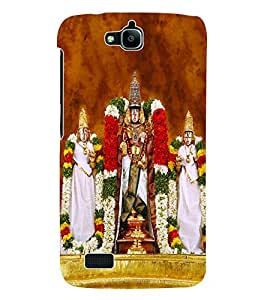 Fuson 3D Printed Lord Tirumala Tirupati Venkateswara Designer Back Case Cover for Huawei Honor Holly - D684