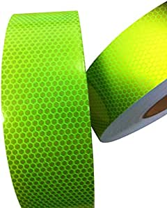 Hi Viz Fluorescent Grade Lime Reflective Tape 50mm X 300mm High Intensity