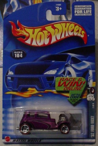 Hot Wheels '32 Ford Vicky 2/4 Redline 2002 #104 1:64 Scale - 1
