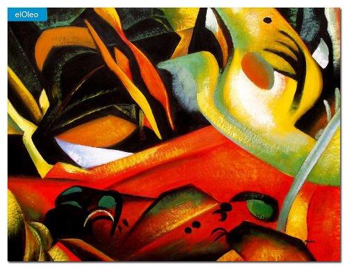elOleo August Macke – Der Sturmes 90×120 Gemälde auf Leinwand handgemalt 83562A kaufen