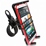 High Grade Zip-Grip Bicycle / Treadmill / Exercise Bike / Motorcycle Handlebar Cradle Mount Holder for Samsung Galaxy S4 / Samsung Note 2 Mobile Phone (use with or without case protector)