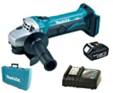 Makita 18V LXT BGA452 BGA452Z BGA452Rfe Angle Grinder, BL1830 Battery, DC18RC Charger And Case