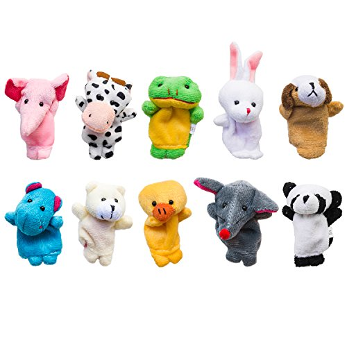 Velvet-Cute-Animal-Style-Finger-Puppets-for-Children-Shows-Playtime-Schools-10-Animals-Set-by-Super-Z-Outlet