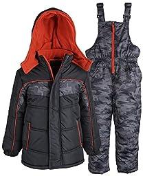 Ixtreme Baby Boys\' Digital Camo Print Snowsuit, Black, 12 Months