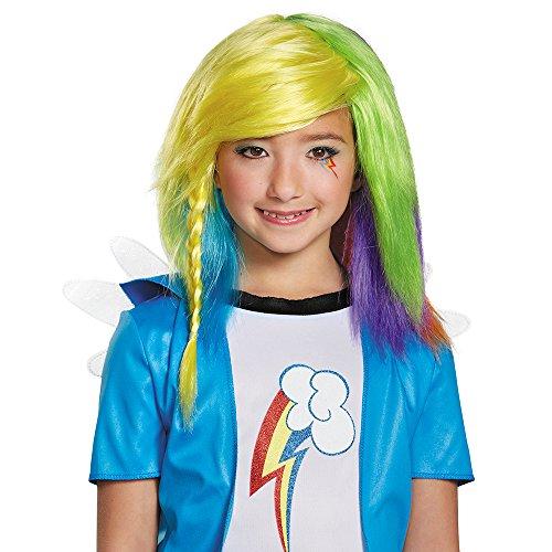 Disguise 85518 Rainbow Dash Equestria Wig Costume Child