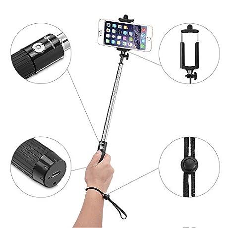 TaoTronics 自撮り棒 Bluetooth無線 シャッターボタン付き iPhone/Android対応 TT-SH10