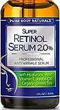 Best Retinol Serum - 72% ORGANIC - With Hyaluronic Acid, Jojoba Oil, Clinical Strength Retinol Moisturizer Anti Aging Anti Wrinkle Serum - SATISFACTION GUARANTEED