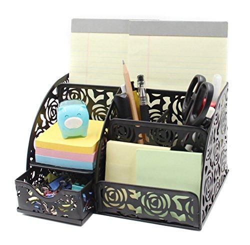 Desk Organizer 5 Compartments and 1 Slide Drawer Desktop Collection