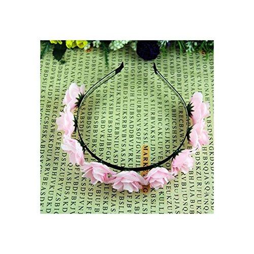 Handmade Child Kid'S Cute Flower Garland Hairband Floral Crown Flower Girls Headpiece Hair Pins