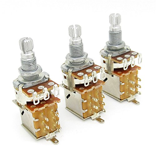 A500K Push Pull Potentionmeter Volume Tone Switch Pots Shaft 18mm for Guitar Bass Pack Of 3 (Pot Switch compare prices)