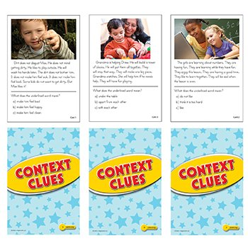 Context Clues Practice Cards Yellow Level - 1