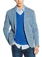 Trussardi Jeans Americana Hombre (Azul / Blanco)