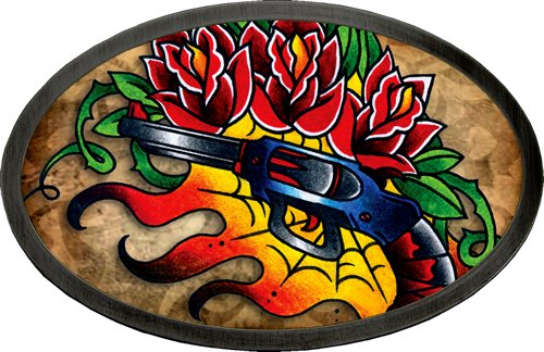 Licensed Tattoo Johnny Guns N' Roses Belt Buckle Review