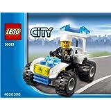 LEGO City Mini Figure Set #30013 Police City Quad Bagged