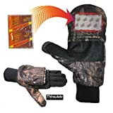 Heat Factory Pop-Top Mittens with Glove Liner for use with Heat Factory Hand Warmers, Mossy Oak, X-Large