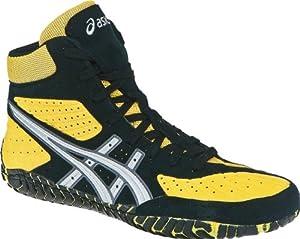 ASICS Men's Aggressor Wrestling Shoe,Yellow/Silver/Black,8 M US