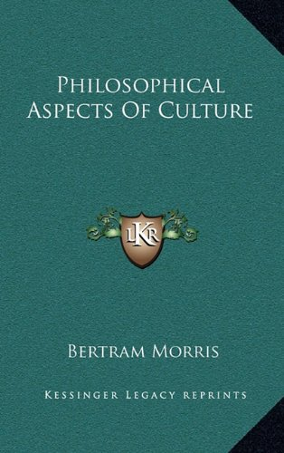 Philosophical Aspects of Culture